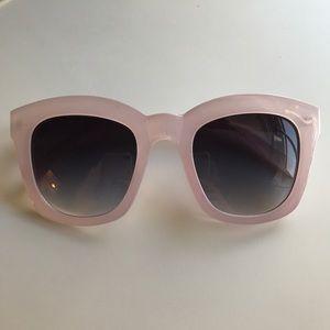 Free People Purple Oversized Sunglasses